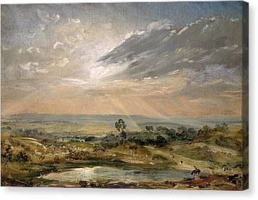 Constable Canvas Print - Branch Hill Pond Hampstead by John Constable