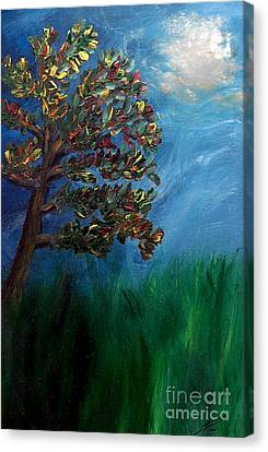 Branched Impressions Canvas Print by Ayasha Loya