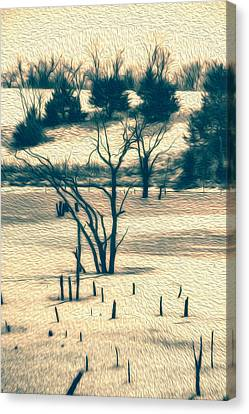 Branched Reprieve Canvas Print by Bill Tiepelman