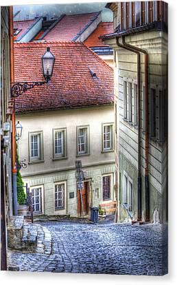 Bratislava. As The City Sleeps Canvas Print by Juli Scalzi