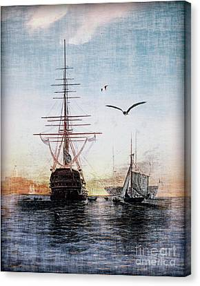 Pier Canvas Print - Brave New World by Lianne Schneider