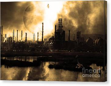 Brave New World - Version 2 - Sepia - 7d10358 Canvas Print