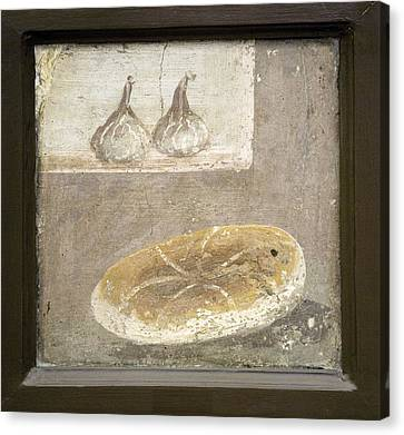 Bread And Figs, Roman Fresco Canvas Print by Sheila Terry