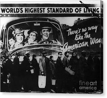 Bread Line Canvas Print by Photo Researchers