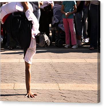 Canvas Print featuring the photograph Break Dancer by David Harding