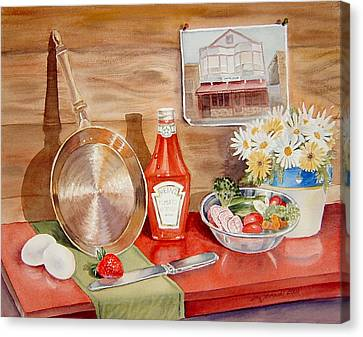 Breakfast At Copper Skillet Canvas Print by Irina Sztukowski