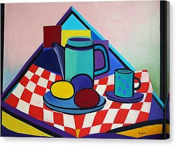 Breakfast With Eggs Canvas Print by Karin Eisermann