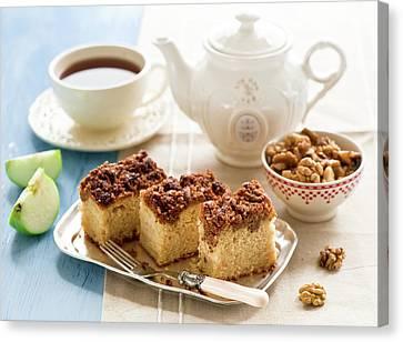 Breakfast With Nut Cake Canvas Print by Verdina Anna
