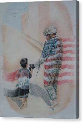 Breaking Borders Canvas Print by Joanna Gates