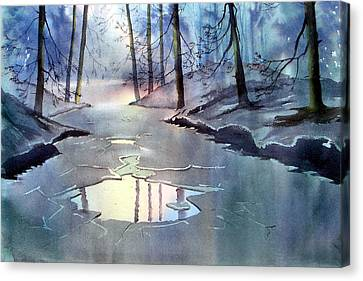 Breaking Ice Canvas Print