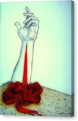 Breaks The Heaven With The Same Hand Breaks The Earth Canvas Print by Paulo Zerbato