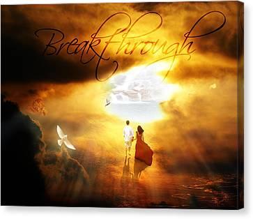 Breakthrough Canvas Print by Art By Demarti
