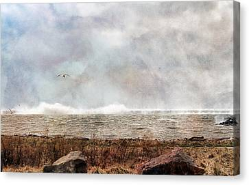 Breakwall Canvas Print by Peter Chilelli