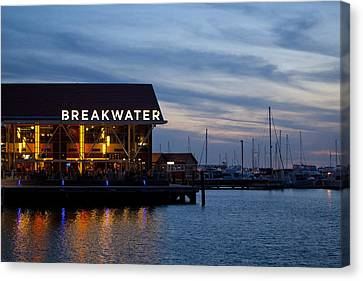 Canvas Print featuring the photograph Breakwater  by Serene Maisey