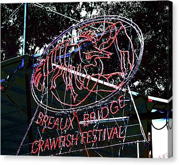 Breaux Bridge Crawfish Festival Canvas Print