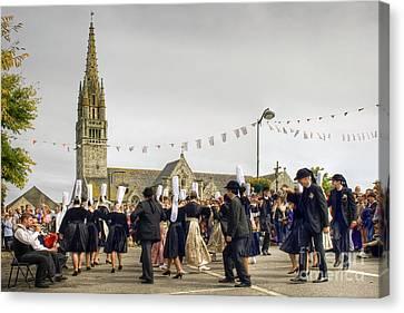 Breton Dancing Canvas Print by Sophie De Roumanie
