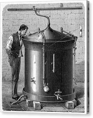 Brewery Vat, 19th Century Canvas Print by Cci Archives
