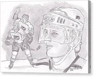 Brian Propp Canvas Print by Chris  DelVecchio
