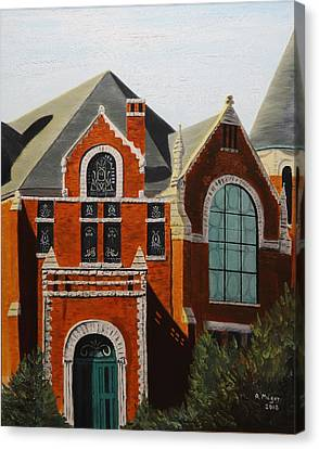 Brick Masterpiece Canvas Print by Alan Mager