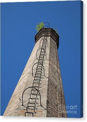 Brick Tower Canvas Print by David Buffington