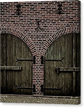 Brick Zipper Canvas Print by Odd Jeppesen