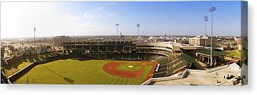 Bricktown Ballpark Canvas Print by Ricky Barnard