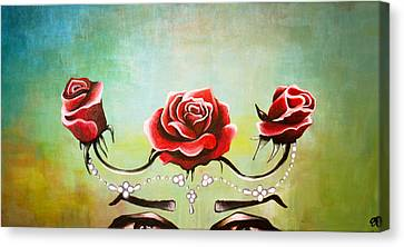 Bridal Roses  Canvas Print by Julia  Kropinova