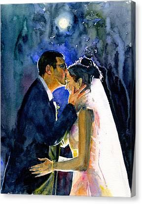 Bride And Groom Canvas Print by John D Benson