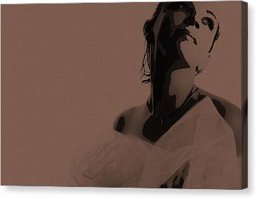 Bride Canvas Print by Naxart Studio