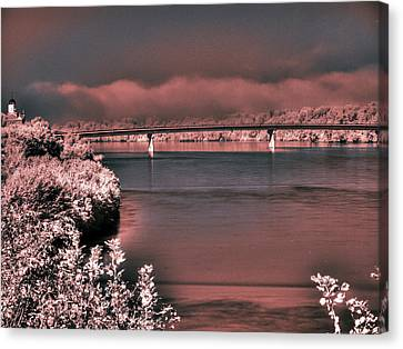 Canvas Print featuring the photograph Bridge Across The Mo by William Fields