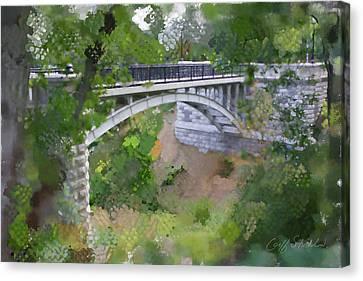 Bridge At Lake Park Canvas Print