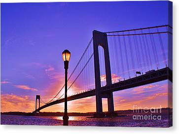 Bridge At Sunset 2 Canvas Print by Artie Wallace
