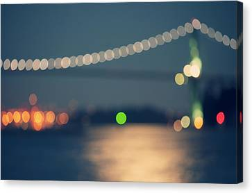 Bridge Bokeh! Canvas Print by Arshia Mandegarian