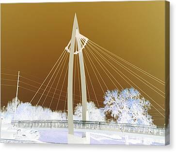 Bridge Iced Canvas Print by David Alvarez