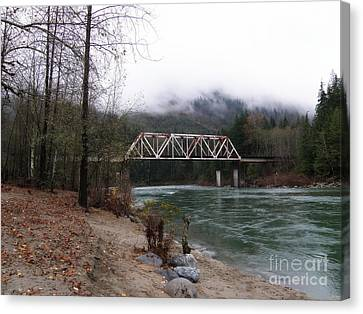 Bridge In Washington State Canvas Print by Tanya  Searcy
