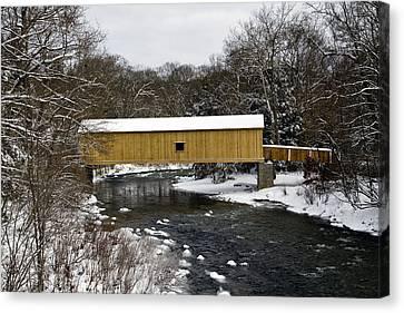 Bridge In Winter II Canvas Print