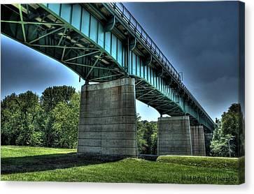 Bridge Of Blue Canvas Print by Heather  Boyd