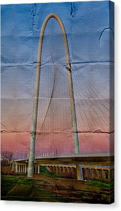 Bridge On Paper Canvas Print by David Clanton