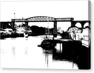 Canvas Print featuring the photograph Bridge On The Boyne by Charlie and Norma Brock