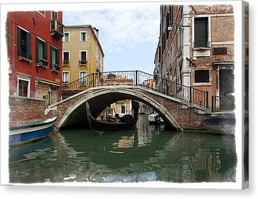 Bridge Over Gondola Canvas Print