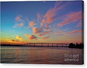 Bridge Over The Patuxent Canvas Print by Susan Isakson