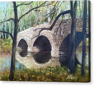 Bridge Over The Perkiomen Canvas Print