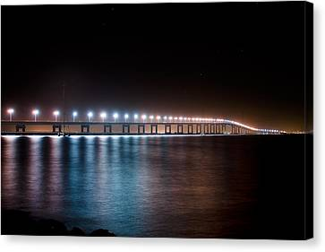 Bridge Over Troubled Waters Canvas Print by Jeremy Bartlett