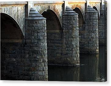 Bridge Pillars Canvas Print