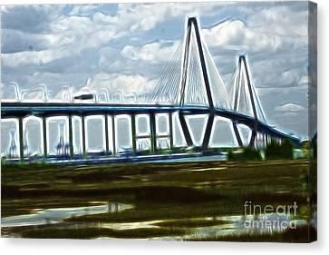 Bridge To Charleston Canvas Print by Darleen Stry