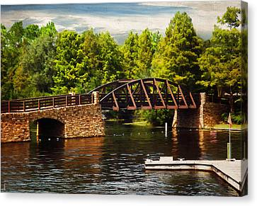 Bridge To Get Away Canvas Print by Lourry Legarde