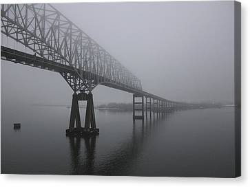 Bridge To Nowhere Canvas Print by Shelley Neff