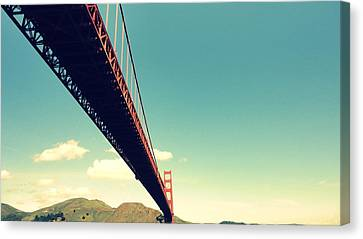 Bridge To The Headlands Canvas Print by Eliot Jenkins