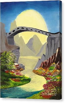 Bridge To The Moon Canvas Print