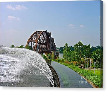 Bridge To The Past Canvas Print by Joe Finney